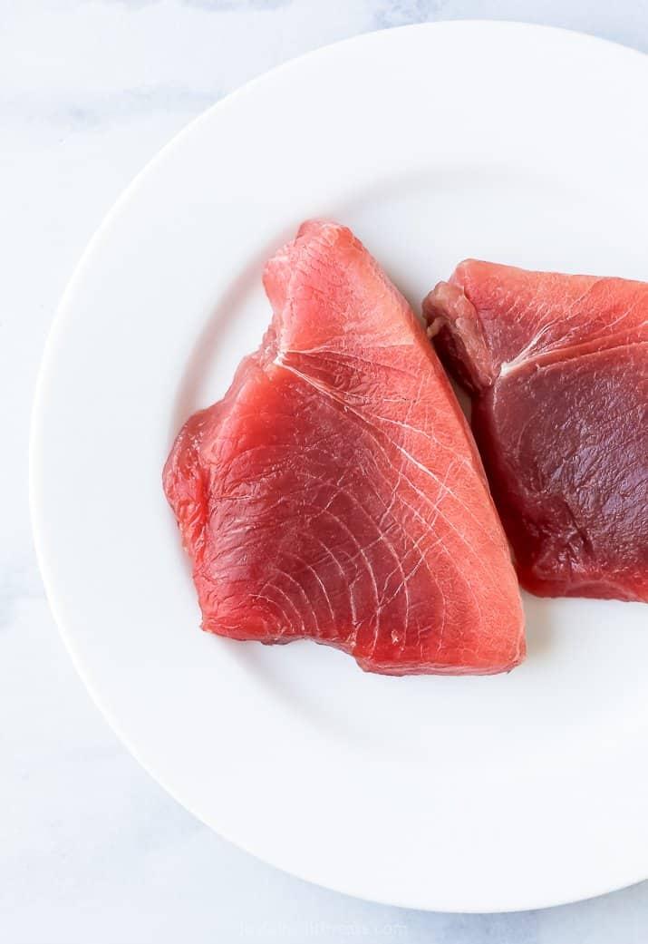 Sushi-Grade Bluefin Tuna on a Plate