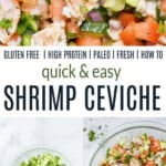 pinterest image for fresh shrimp ceviche
