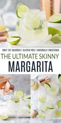 pinterest image for the ultimate skinny margarita recipe