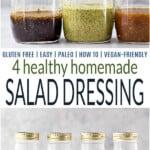 pinterest image for homemade salad dressings