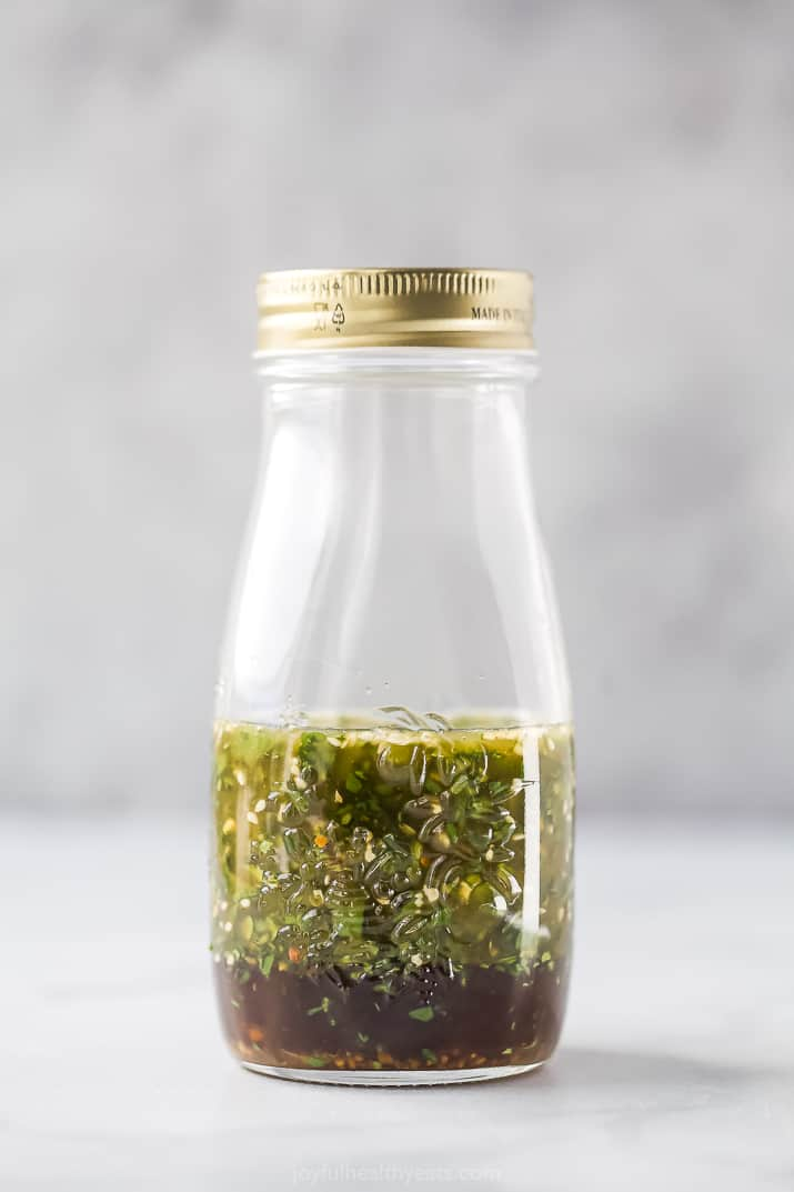 jar with asian dressing