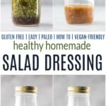 pinterest image for healthy salad dressings