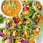 pinterest image for Easy Fresh Summer Rolls with Peanut Sauce