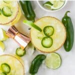 pinterest image for spicy margarita recipe