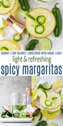 pinterest image for spicy margaritas