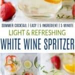 pinterest image for white wine spritzer