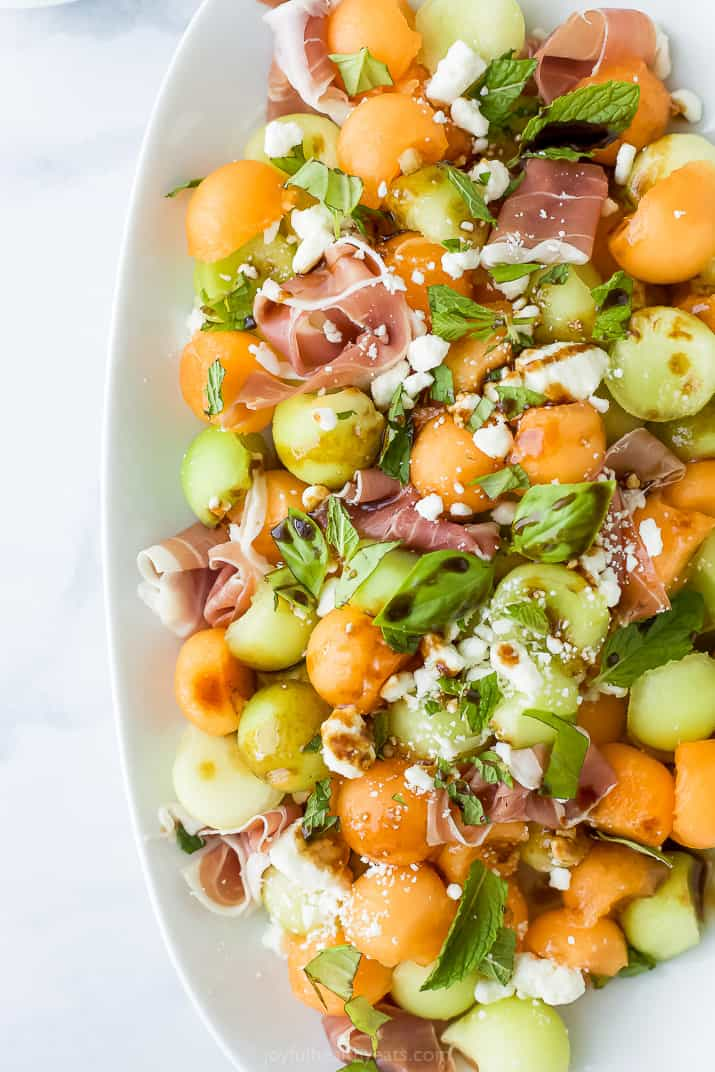 melon and prosciutto salad with balsamic