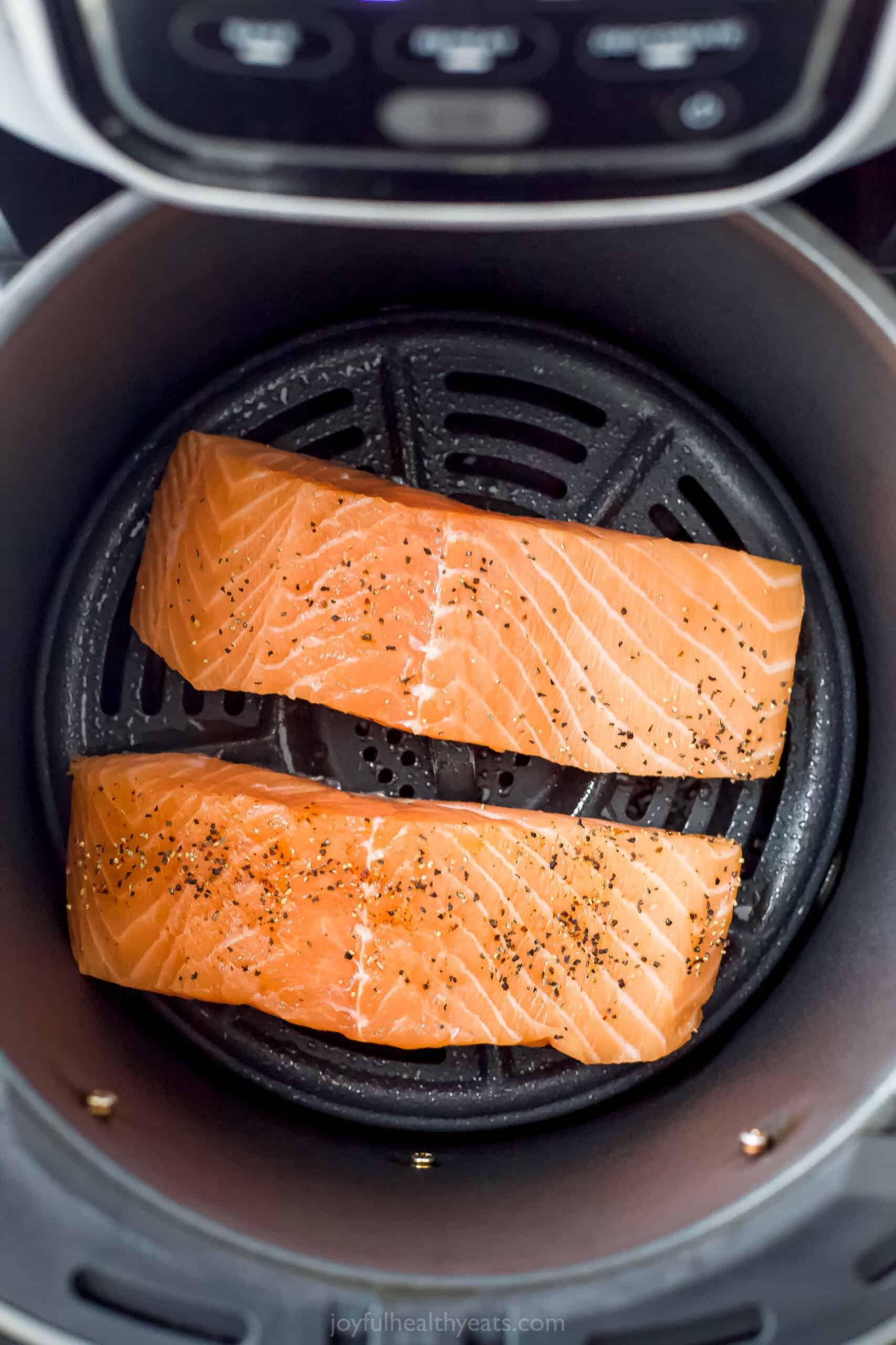salmon in an air fryer