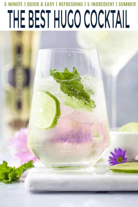 pinterest image for hugo cocktail