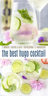 pinterest image for hugo cocktail recipe