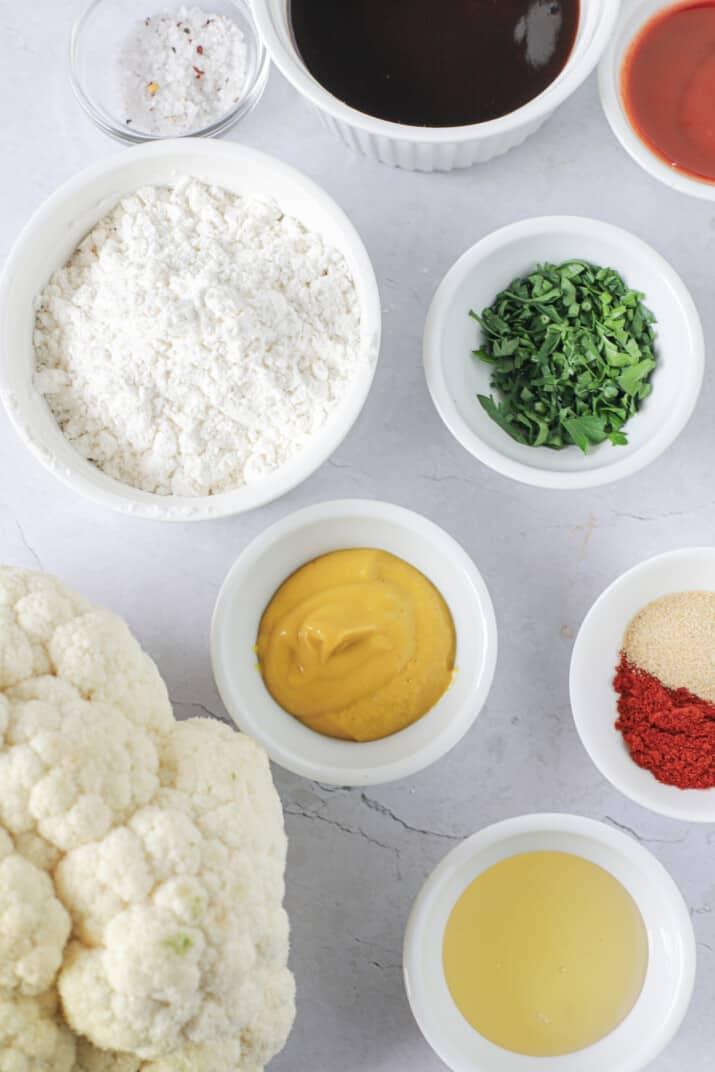 ingredients for air fryer cauliflower wings