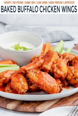 pinterest image for buffalo chicken wings
