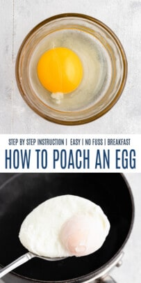 pinterest image for how to poach an egg