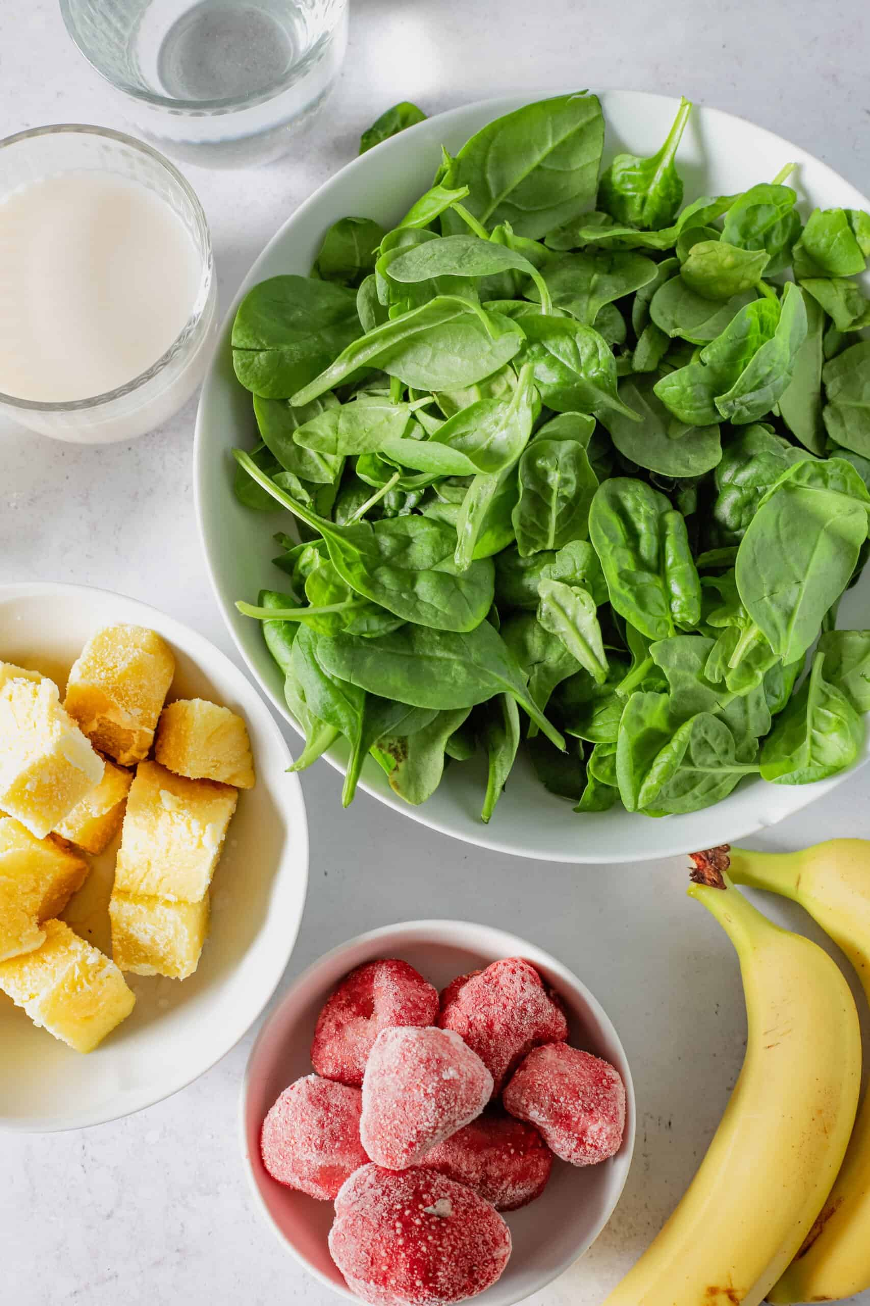 ingredients for tropical green smoothie