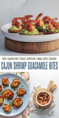 pinterest image for cajun shrimp sweet potato bites